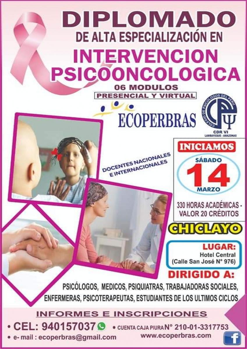 DIPLOMADO DE ALTA ESPECIALIZACIÓN INTERVENCIÓN PSICOONCOLÓGICA